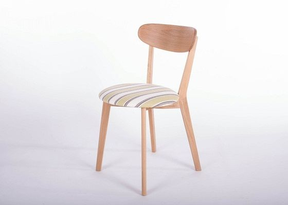 China Hotel Modern Oak Solid Wood Dining Chairs Comfortable Strong Structure High Grade supplier