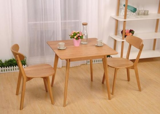 China Home Light Small Oak Dining Table And Chairs For 4 , Living Room Square Oak Dining Table supplier
