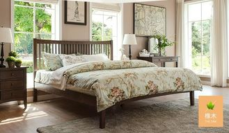 China Traditional Walnut Bedroom Furniture , Antique Style Queen Bedroom Furniture Sets supplier