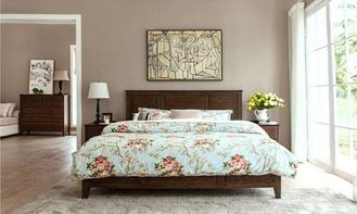 Family Dark Wood Master Bedroom Furniture , Solid Pine ...