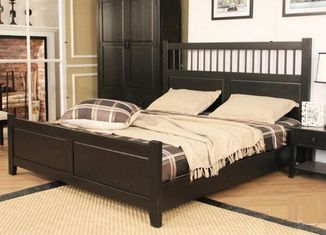 China Dark King Size Solid Wood Bed Frame Safe Nontoxic Environment - Friendly For Hotel supplier