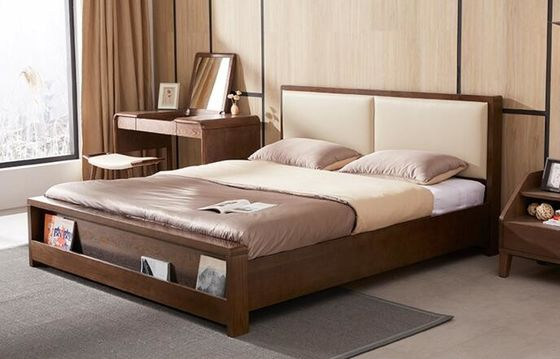 China High Standard Wooden Queen Bed Base , Home Wooden Bed Frames With Storage supplier