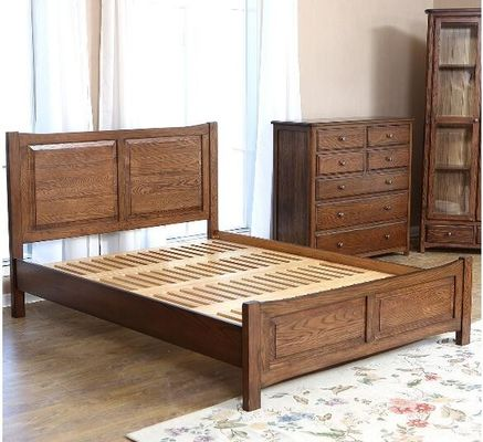 China Handmade Queen Size Wood Bed Frame , Natural Solid Wood King Size Bed Frame supplier