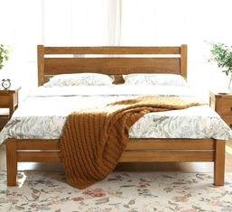 China Simple Style Gray Solid Wood Bed Frame Twin Bed High Standard Eco -  Friendly supplier