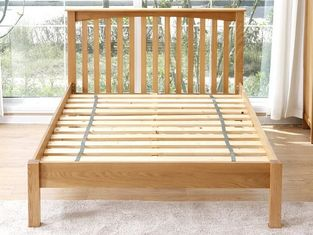 China Home Practical Wooden Double Bed Frame , Twin Bed Solid Wood Platform Bed supplier