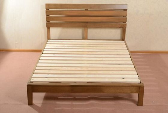 China Home Economic Cherry Solid Wood Bed Frame Queen Size European Style High Grade supplier