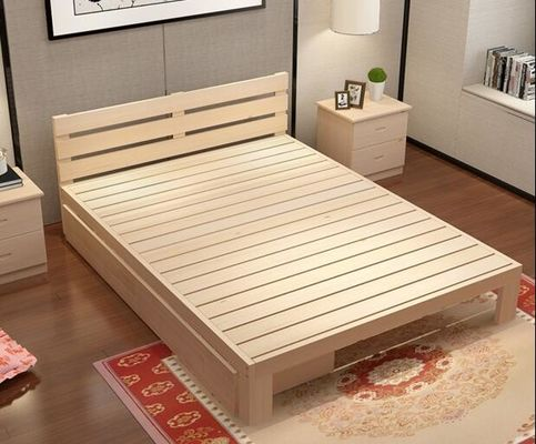 China Modern Family Solid Wood Bed Frame Strong Structure High Standard Practical supplier