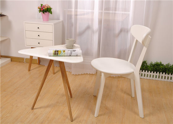 China Elegant Small White Wood Coffee Table , Modern Hotel Light Wood Coffee Table supplier