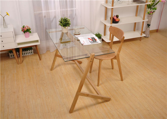 Glass And Wood Modern Solid Wood Coffee Table Practical Highly Endurable