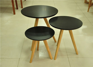 China Contemporary Black Round Low Coffee Table , Commercial Oval Wood Coffee Table supplier