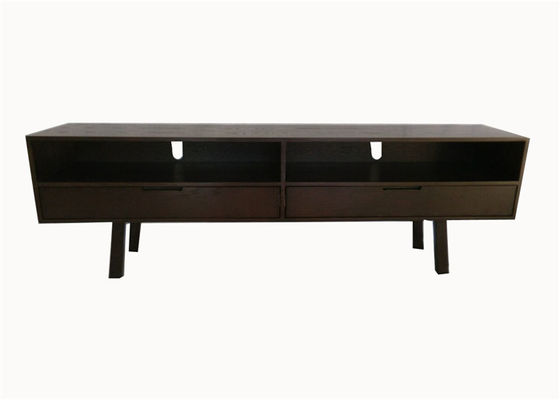 China Solid Dark Oak Wood Living Room TV Stand Unit With Drawer High Grade For Home supplier
