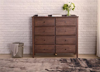 China Dual Drawers Solid Oak Living Room Storage Cabinet Classical Style Standard Size supplier