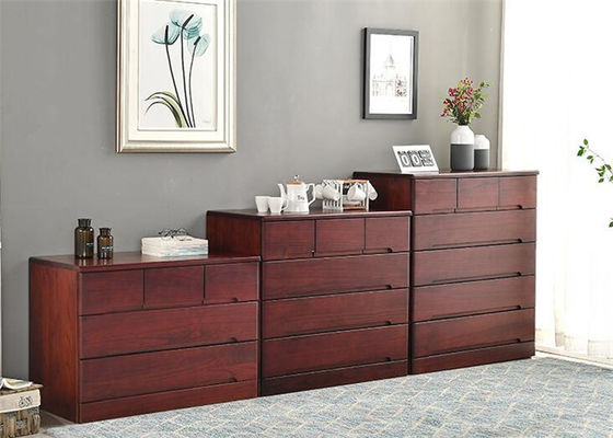 China Traditional Bedroom Dark Wood Storage Cabinet , High Grade Living Room Storage Ches supplier