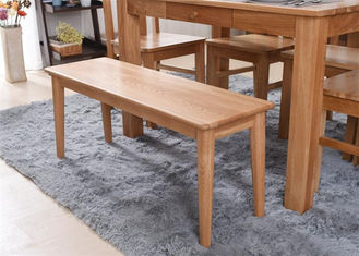 China Modern Beech Hardwood Narraw Solid Wood Bench Eco -  Friendly For Restaurant supplier
