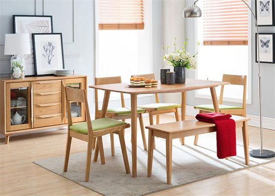 China Commercial Dining Room Oak Solid Wood Bench Practical Environment - Friendly supplier