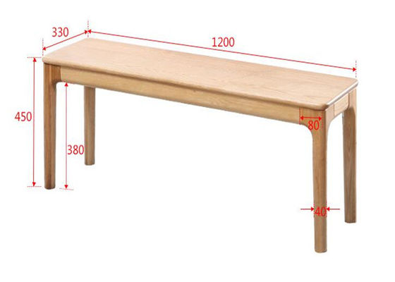 China Customized Natural Oak Garden Bench Seat , Home Walnut Rustic Wood Bench supplier