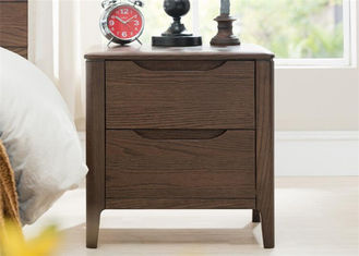 China Hardwood Unique Dark Wood Nightstand , Contemporary Black Brown Nightstand supplier