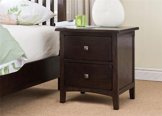 China Customized 30 Inch Bedroom Night Stands Classic Style Strong Structure High Grade supplier