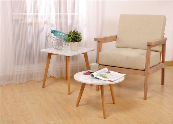 China White Oak Wood Round Solid Wood Side Table Wood And Glass Environment - Friendl supplier