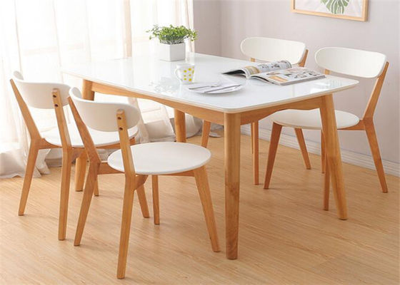 China Birch Wood And Fabric Coffee Hotel Dining Table 4 Seater High Standard Eco -  Friendly supplier