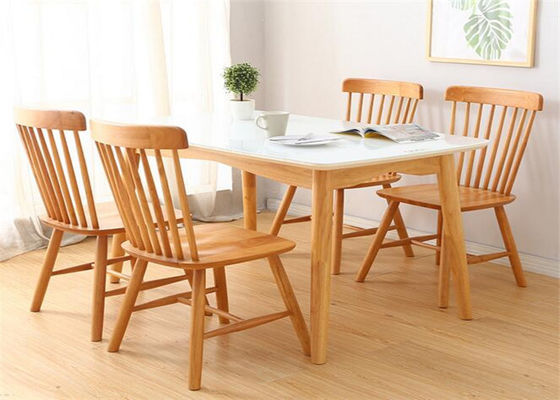 China Custom Modern Wood Dining Room Tables , 4 Chair Counter Height Dining Table supplier