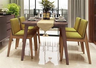 China Hotel Small Kitchen Table And Chairs , Comfortable Beech Wood 4 Chair Dining Table supplier