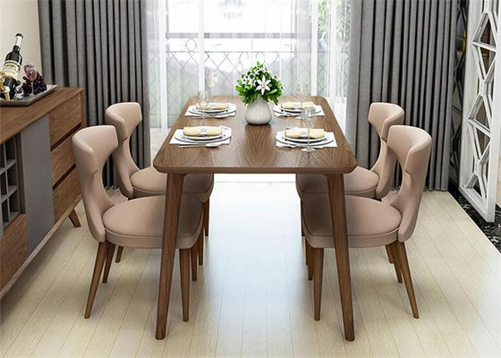 China High End Hotel Dining Table And 4 Chairs , Commercial Square Dining Room Table supplier