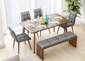 China Classic Leather 6 Seats Hotel Dining Table High Grade Simple Style Eco -  Friendly supplier