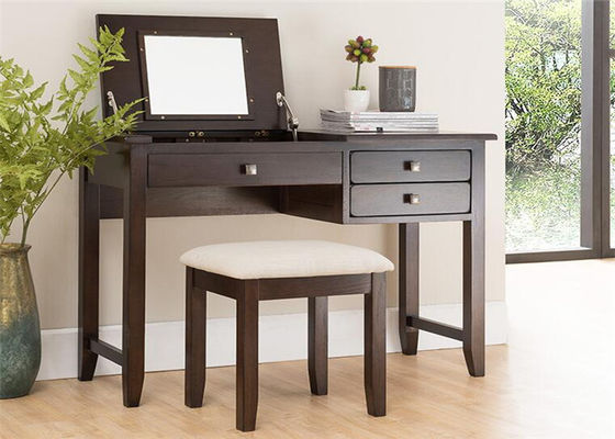 Family Bedroom Black Dressing Table , Modern Rosewood Brown Dressing Table