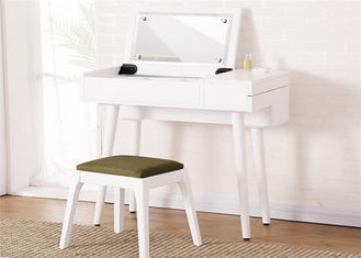 China Economic White Gloss Dressing Table , Lady Hotel Contemporary Dressing Table supplier