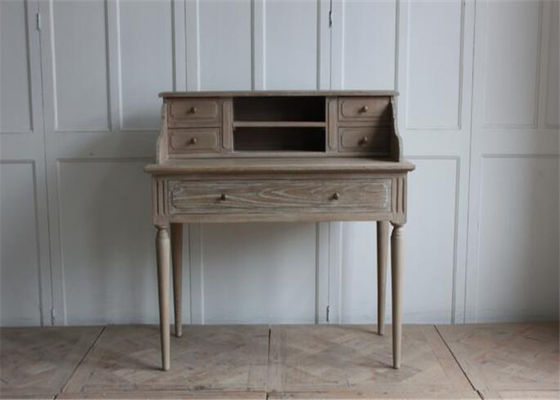 China Rustic Cherry / Walnut Dressing Table With Storage , Home Bedroom Beech Dressing Table supplier