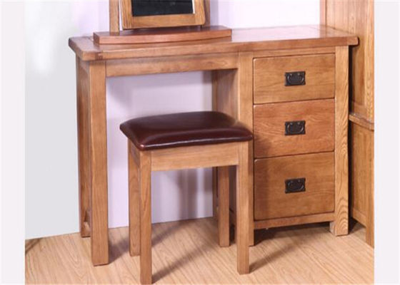 China Classic Practical Wood Compact Dressing Table , Bedroom Corner Dressing Table supplier