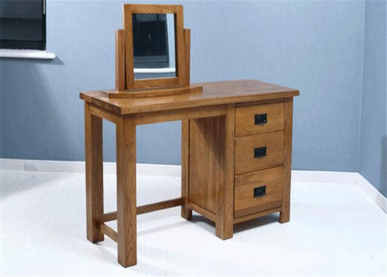 China Small Mirrored Solid Wood Dressing Table Modern Style Color Optional For Fanily supplier