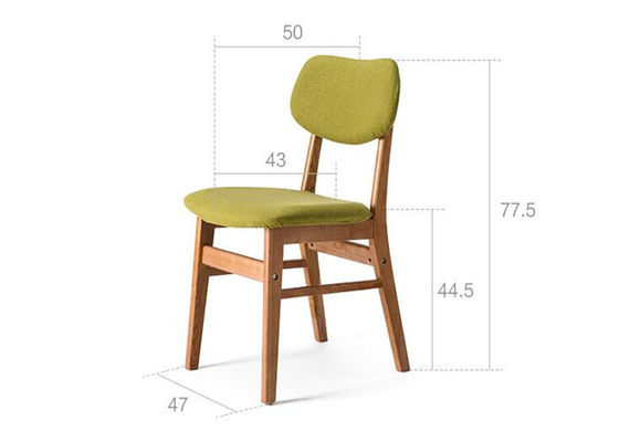 China Customized Breakfast Solid Wood Dining Chairs High Back Environmental Friendly supplier