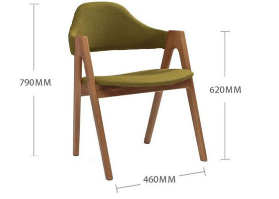 China Small Fabric Light Oak Kitchen Chairs , Restaurant Oak Upholstered Dining Chairs supplier