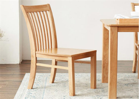 Family Practical Solid Wood Dining Chairs Standard Size Strong Structure Eco -  Friendly