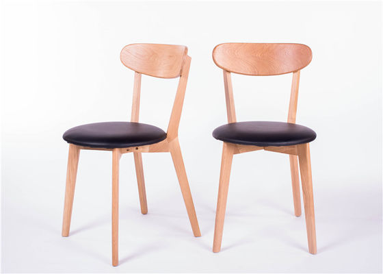 China Economic Home Solid Wood Dining Chairs MDF Round Black Seat Color Optional supplier
