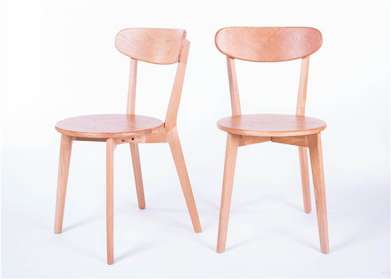 China Solid Wood Dining Room Chairs MDF Natural Color Seat , Round Back Dining Chairs supplier
