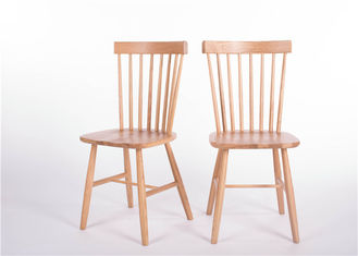 China Traditional High Back Dining Room Chairs , Contemporary White Oak Kitchen Table Chairs supplier