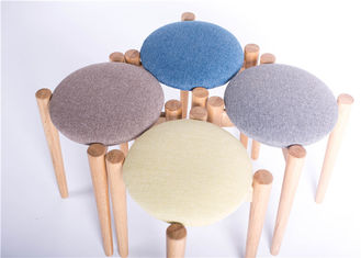 China Blue Fabric Bar Solid Wood Dining Chairs Stool Simple Style Environment - Friendly supplier