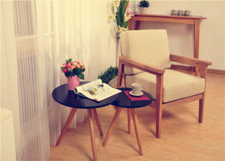 China Home Sofa Natural Wood Side Table , Leisure Birch Contemporary End Tables supplier