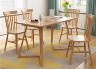 China Breakfast Solid Oak Dining Table And Chairs , Square Rustic Dining Room Table factory