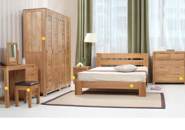 Very Economical Bedroom Nightstands Simple Style Hardwood Bedroom Furniture Sets , Economic Full Size Bedroom  Sets