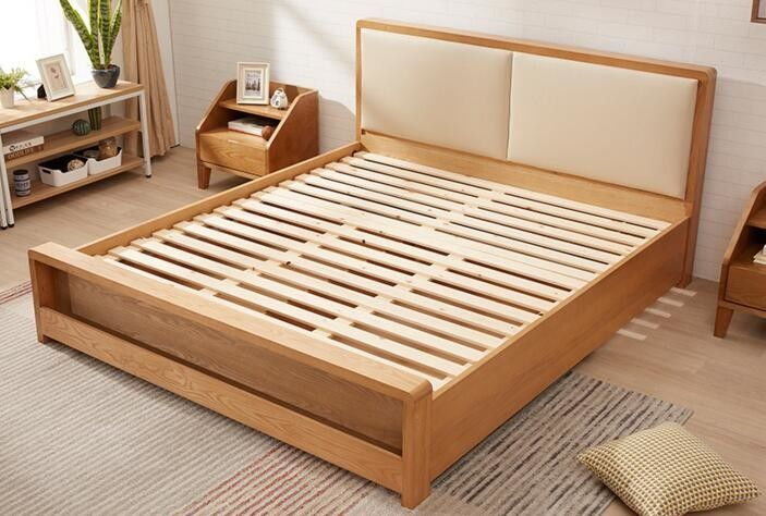 Pine Queen Size Solid Wood Bed Frame With Drawers Chunky ...