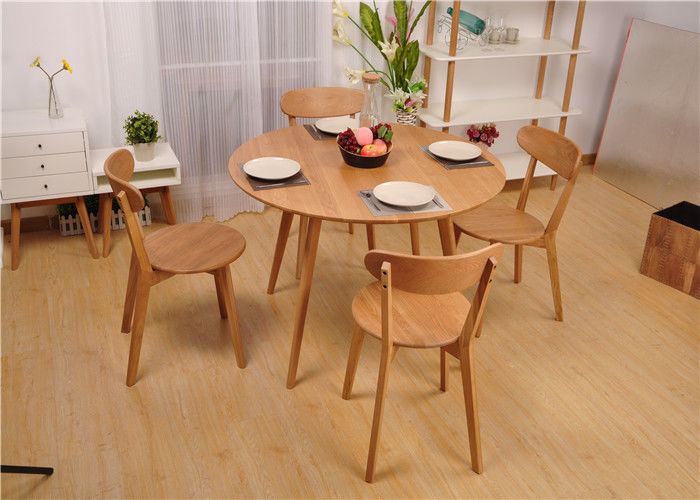 Modern Round Dining Table And Chairs , Hardwood Dining Room ...