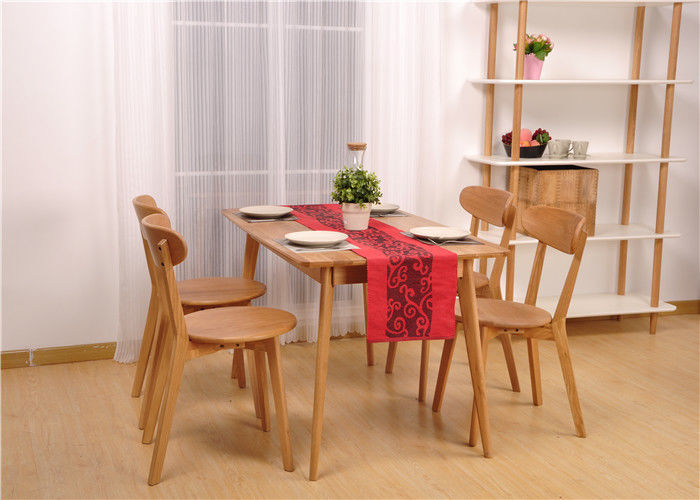 Hardwood Oak Dining Table And Chairs High Standard Rectangle Formal Room Sets