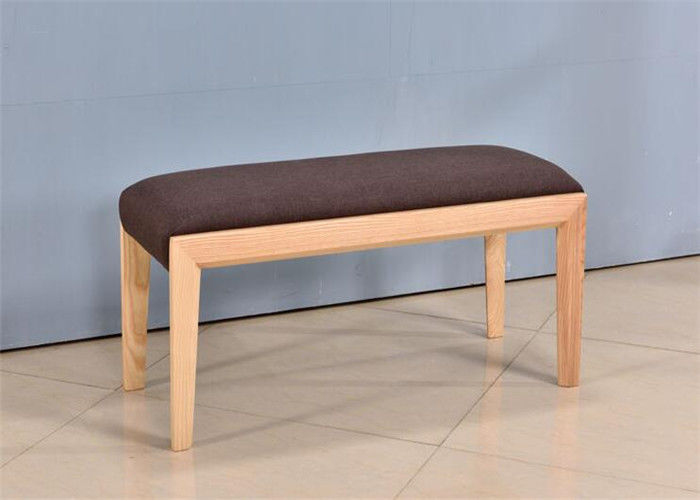 Fabric Indoor Wooden Kitchen Bench Seat , Family Wooden Dining Bench Seat