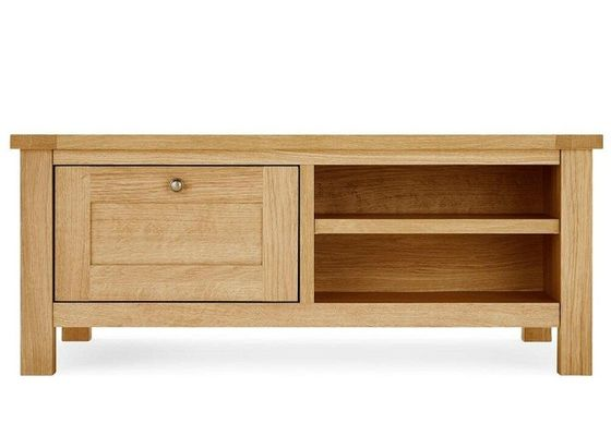 Natural Wood Living Room TV Stand Mordern Style Strong Structure Eco -  Friendly