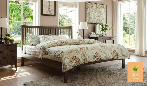China Traditional Walnut Bedroom Furniture , Antique Style Queen Bedroom Furniture Sets factory