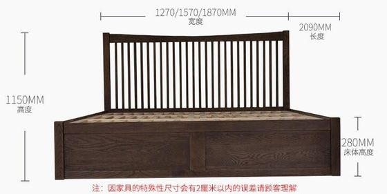 China Twin Queen Size Solid Wood Bedroom Furniture Sets European Style High Grade factory